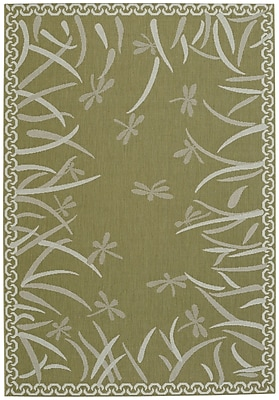 Capel Elsinore Dragonfly Machine Woven Pistachio Area Rug; 3' 11'' x 5' 6''