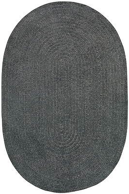 Capel Custom Classics Braided Cinder Area Rug; Oval 3' x 5'