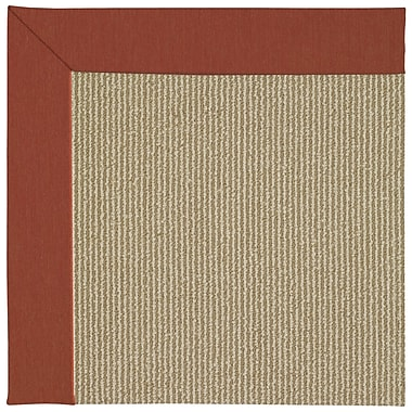 Capel Zoe Machine Tufted Strawberry/Brown Indoor/Outdoor Area Rug; Rectangle 12' x 15'