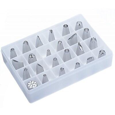 VonShef 24 Piece Stainless Steel Piping Bag Tip Set WYF078279158324