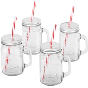 VonShef Mason Glass Drinking Jar (Set of 4)