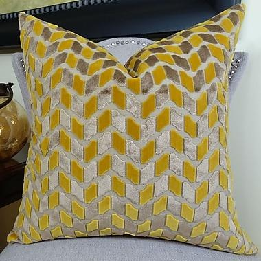 Plutus Brands Velvet Rope Handmade Throw Pillow; 16'' H x 16'' W
