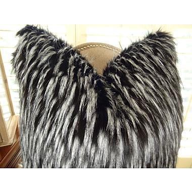 Plutus Brands Wolf Fur Handmade Throw Pillow; 20'' H x 30'' W