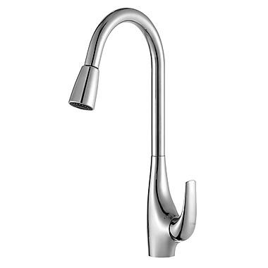Kraus Pull Down Single Handle Kitchen Faucet; Chrome