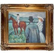 Tori Home At the Races by Henri de Toulouse-Lautrec Framed Painting Print