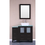 Bosconi 42'' Single Vanity Set w/ Mirror; Espresso