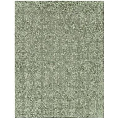 Wildon Home Hand-Woven Green Area Rug; 8' x 10'