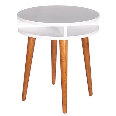 Porthos Home Solarium End Table; White