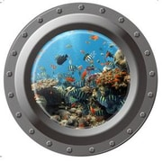 RetailSource Porthole Reef Wall Decal