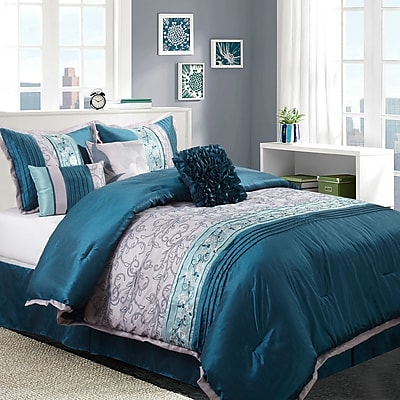 Nanshing America, Inc Juliana 7 Piece Comforter Set; King