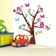RetailSource Angled Tree Full of Friends Wall Decal