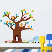 RetailSource Full Tree w/ Bunny and Owls Wall Decal