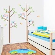 RetailSource Sharp Angled Branch w/ Owls Wall Decal