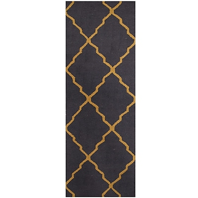 Herat Oriental Hand-Tufted Navy/Light Gold Area Rug