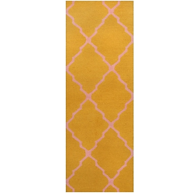 Herat Oriental Hand-Tufted Gold/Pink Area Rug