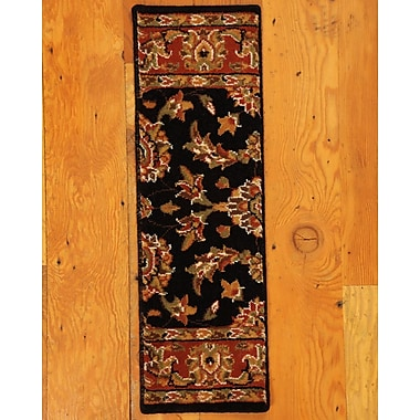 Natural Area Rugs Sydney Classic Persian Black Stair Tread (Set of 13)