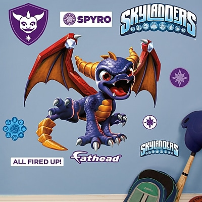Fathead Skylanders Activision - Spyro Junior Peel and Stick Wall Decal WYF078278047786