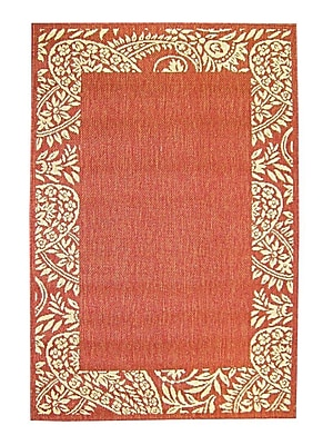 American Mills Paisley Orange Area Rug; 7'1'' x 11'5''