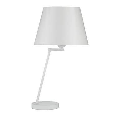 Pangea Home Megan 21'' Table Lamp; White