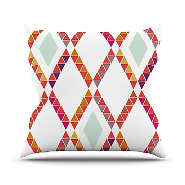 KESS InHouse Aztec Diamonds by Pellerina Design Geometric Throw Pillow; 18'' H x 18'' W x 1'' D
