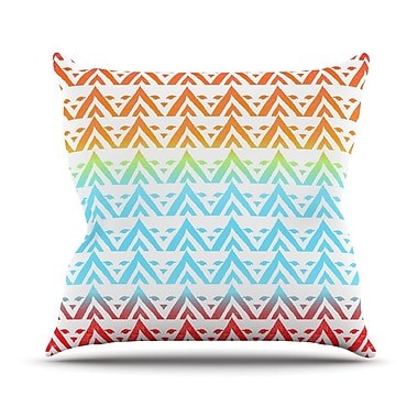 KESS InHouse Antilops Pattern by Frederic Levy-Hadida Chevron Throw Pillow; 18'' H x 18'' W x 1'' D