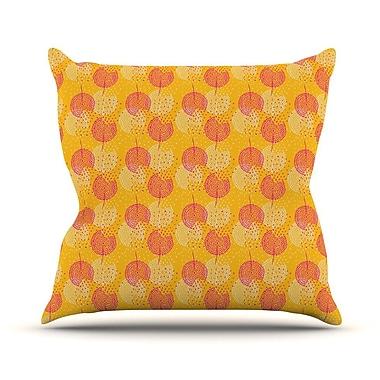 KESS InHouse Wild Summer Dandelions by Apple Kaurs Throw Pillow; 20'' H x 20'' W x 4'' D