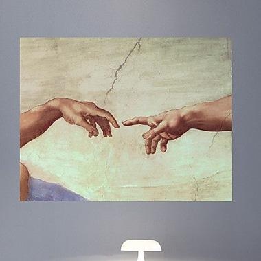 Wallhogs Michelangelo Hands of God and Adam (1511) Poster Wall Mural; 27.5'' H x 36'' W