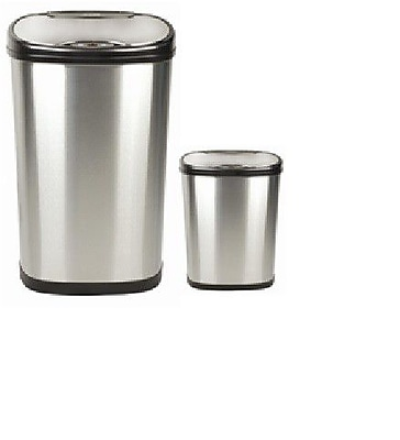 Nine Stars Nine Stars Motion Sensor Trash Can Set