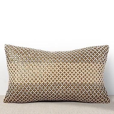 Chauran Vivante Sequined Lumbar Pillow; Cognac