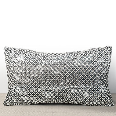Chauran Vivante Sequined Lumbar Pillow; Mist