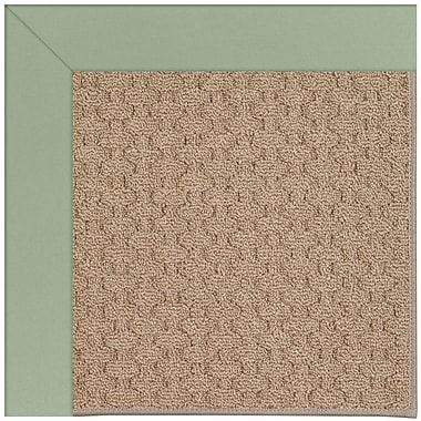 Capel Zoe Grassy Mountain Machine Tufted Green/Brown Indoor/Outdoor Area Rug; Square 8'