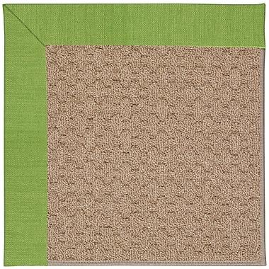 Capel Zoe Machine Tufted Green/Brown Indoor/Outdoor Area Rug; Rectangle 3' x 5'