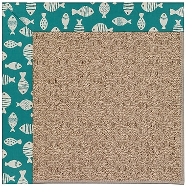 Capel Zoe Grassy Mountain Machine Tufted Green/Brown Indoor/Outdoor Area Rug; Rectangle 12' x 15'