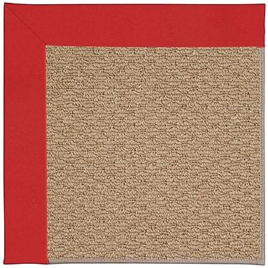 Capel Zoe Machine Tufted Red/Brown Indoor/Outdoor Area Rug; Rectangle 3' x 5'