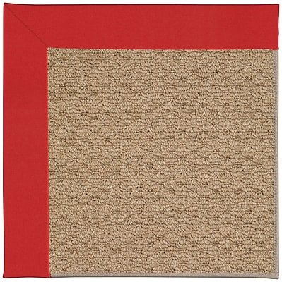 Capel Zoe Machine Tufted Red/Brown Indoor/Outdoor Area Rug; Square 4'