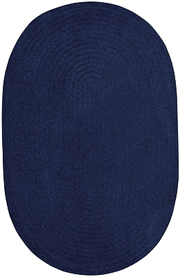 Capel Custom Classics Braided Dark Sapphire Area Rug; Oval 9' x 12'