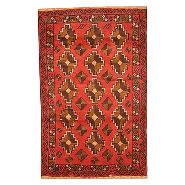 Herat Oriental Balouchi Hand-Knotted Red/Brown Area Rug