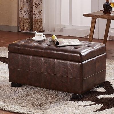 NOYA USA Faux Leather Storage Bench
