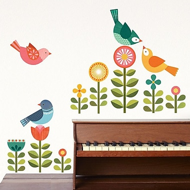 Petit Collage Birds Modern Wall Decal