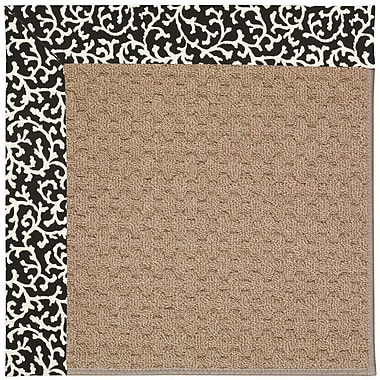 Capel Zoe Grassy Mountain Machine Tufted Black Cascade/Brown Indoor/Outdoor Area Rug; Square 8'