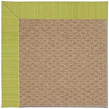 Capel Zoe Machine Tufted Pea Pod/Brown Indoor/Outdoor Area Rug; Square 6'
