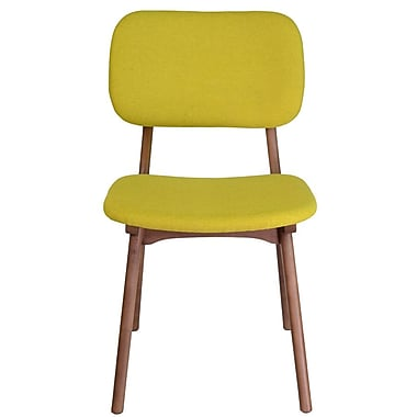 PoliVaz Jeanette Solid Wood Dining Chair; Yellow