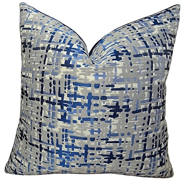 Plutus Brands Abstract Plaid Double Sided Throw Pillow; 24'' H x 24'' W