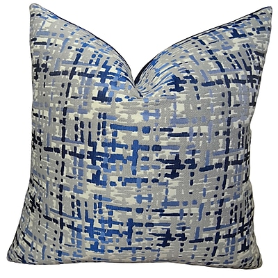 Plutus Brands Abstract Plaid Double Sided Throw Pillow; 20'' H x 20'' W