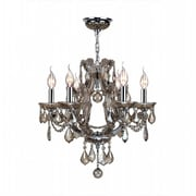 Worldwide Lighting Catherine 6-Light Crystal Chandelier; Golden Teak