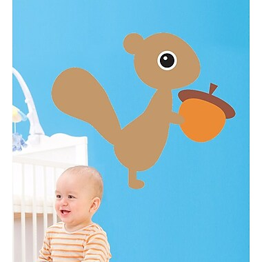 Wallhogs Bui Squirrel Cutout Wall Decal; 20.5'' H x 24'' W