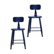 Pangea Home David Side Chair (Set of 2); Blue