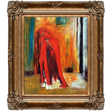 Tori Home Woman in Red by Odilon Redon Framed Print Painting