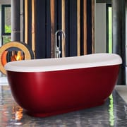 Aquatica Fido 65.75'' x 29'' Soaking Bathtub; White