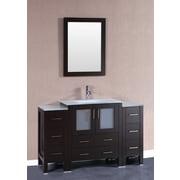 Bosconi 54'' Single Vanity Set w/ Mirror; Espresso